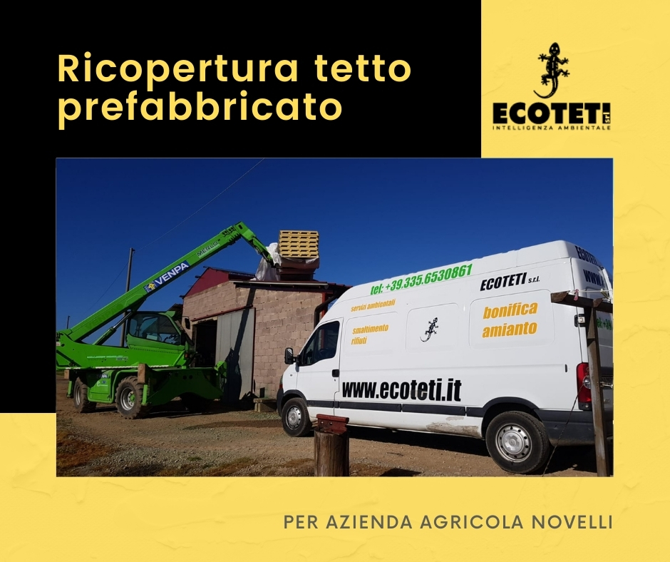 Ricopertura tetto prefabbricato e bonifica Amianto Ecoteti srl