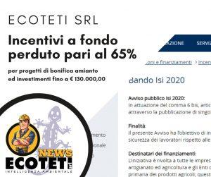 Incentivi a fondo perduto bonifica amianto Ecoteti srl