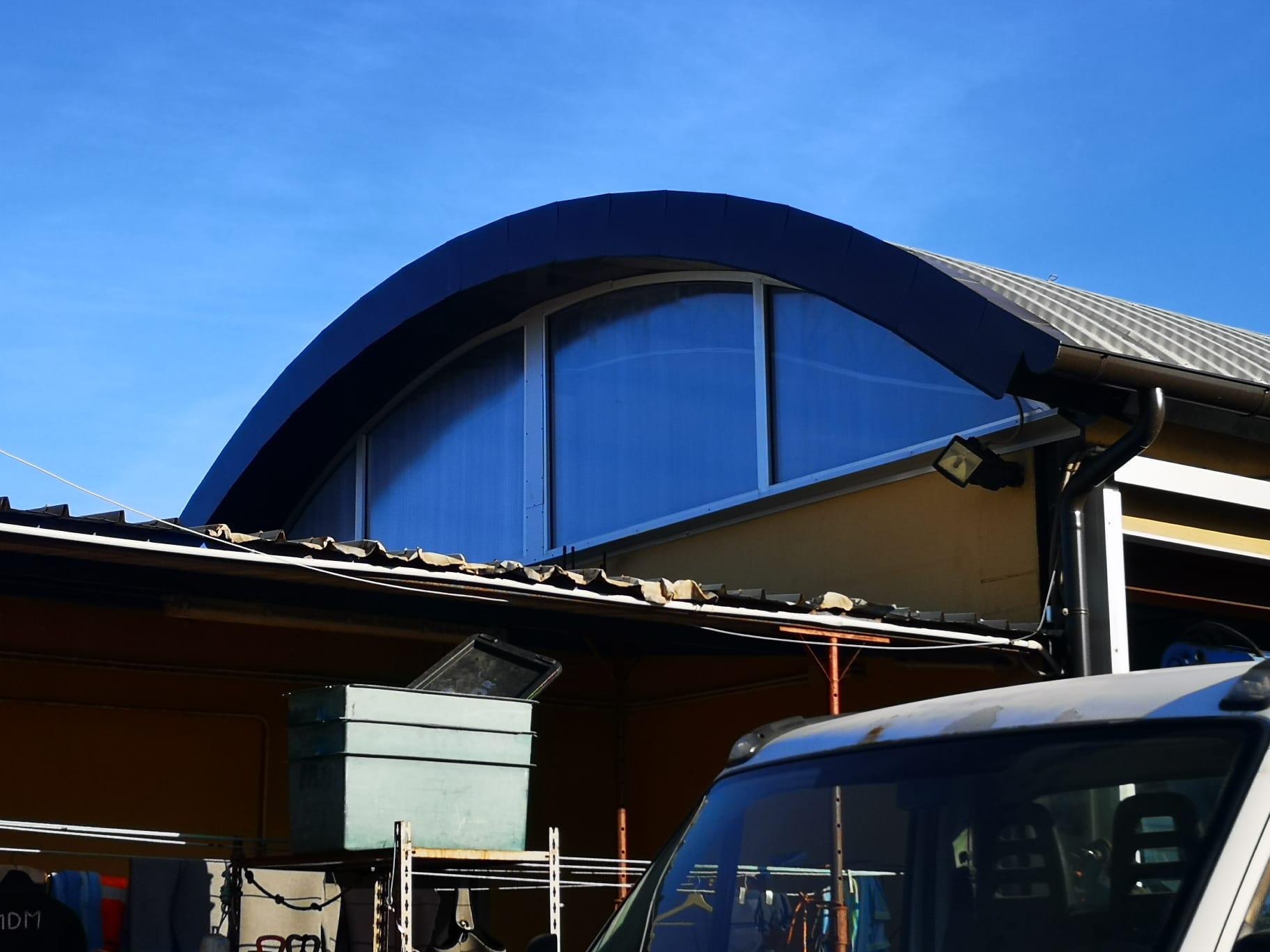 Ormeggiatori piombino - Lavoro di ricostruzione totale delle coperture della sede aziendale porto di piombino Livorno - Ecoteti srl