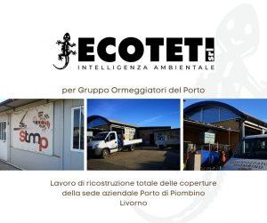 Ricostruzione totale delle coperture della sede aziendale porto di piombino Livorno