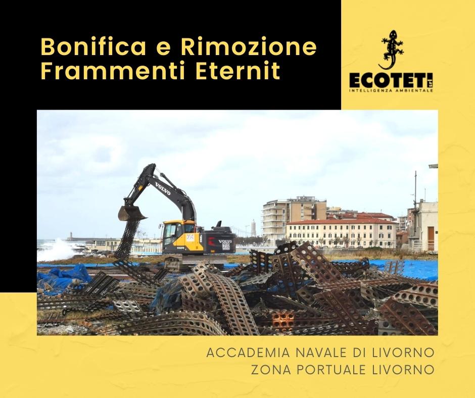 Bonifica e Rimozione Frammenti Eternit - Ecoteti srl per Accademia Navale di Livorno