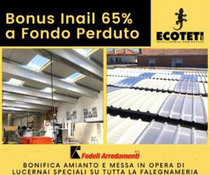 Bonus Inail 65% a Fondo Perduto PRATICA ED INTERVENTO ECOTETI SRL